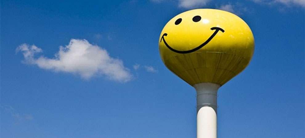 Smiley face water tower, Atlanta