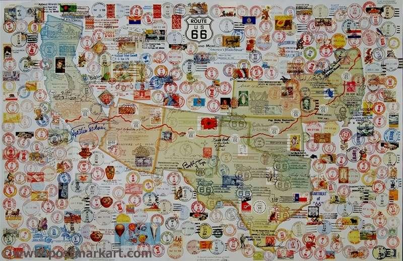 Ken Turmel - Route 66 Postmark Art